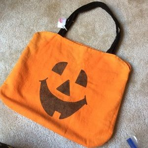 Vintage Pumpkin Halloween Candy Tote